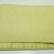 120 Ralph Lauren Yellow-Cream Lambs Wool / Rabbit Hair Scarf Photo