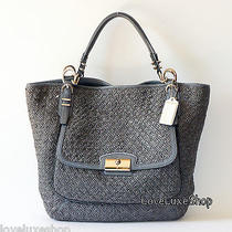 1200 Coach Kristin Pinnacle Woven Leather Tote Bag Purse Huge Limited Edition Photo