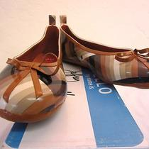 125 Jeffrey Campbell Women's Rainbow Rubber Flats Brown 9 M Photo