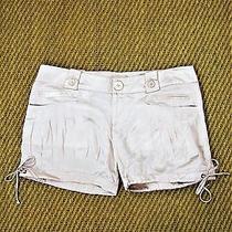 125 Miss Me Silk Charmeuse Pleated Blush Pink Shorts L Photo