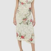 1250 Vivienne Westwood Womens Ivory Floral Lotus Lace Midi Carpet Dress Size 42 Photo