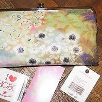 128 Hobo International Lauren Double Frame Leather Fantasy Floral Wallet Clutch Photo
