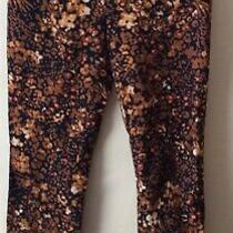 128 Nwot Anthropologie the Essential Slim Floral Trousers Pants Size 2 Photo