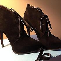 1295 Nib Lanvin 'Clarks' Black Suede Platform Ankle Boots sz40.5 Photo