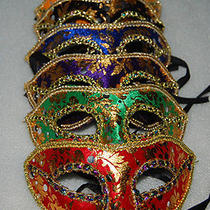 12pcs Masquerade Party Fantasy Masks Weddings Ladies Halloween High-End Venice Photo