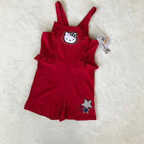 12shello Kitty Little Girls' Americana Romper Rocker Red Size 6x Photo