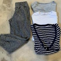 13 Piece Womens Xs Maternity Lot. Pants Shirts Gap and Old Navy Photo
