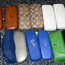 13 Sunglasses Cases Lot Persolcoach Versace Ray Ban Kate Spade Fendi Fila Photo