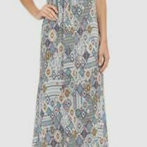 131 Red Carter Women's Blue Printed Maxi Dress Cover-Up Swimwear Size S Photo