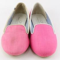 135 Charles Philip Shanghai Nb-01 Pink Canvas Designer Flats 7 Run Small Photo