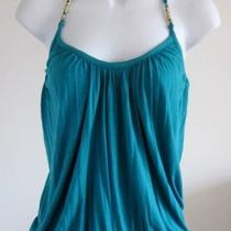 135 Nwt Tart Turquoise Jersey Halter Top- Sz M Photo