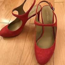 138 Ann Taylor Roslyn Blush Pink Suede Slingback Pumps High Heels Shoes 7.5 New Photo