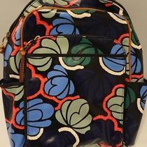 138 New Fossil Keyper Backpack Canvas Shb1642452 Blue Floral Nwt Pattern Bag Photo