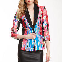 139 Retail Isaac Mizrahi Paint Print Blazer Nwt Size 4 Photo