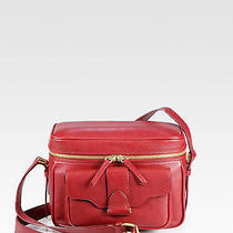 1390 Derek Lamb Red Leather Newton Camera Bag  Photo