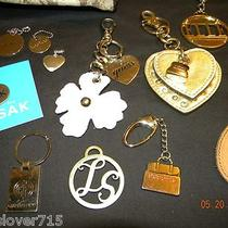 14 Designer Assorted Mix  Metal Key Chain Fob Holder Clip Guess Fossil Kathy Photo