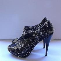 140 Express Sequin Booties Boots Size 75  Photo