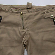 1430 Dsquared Beige Skinny Slim Bike Pants Jeans 46 48 32 Leather Sexy as Chaps Photo