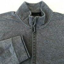 145 Armani Exchange Men Beautiful Gray 1/4 Zip Fine Sweater Cutton Pullover Xl  Photo