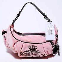 148 Juicy Couture Pink Velour Charm Hobo Photo