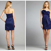 148 Max & Cleo Rosette Trim Strapless Taffeta Dress Sz 14 Photo