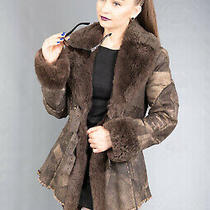 1488 New Amazing Real Leather Coat Luxury Jacket Lamb Fur Beautiful Look Size Xs Photo