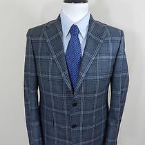 1495 Hickey Freeman Mahogany Collection Gray Check Addison Blazer 44r Photo