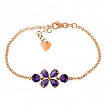 14k Rose Gold Bracelet With Amethysts Photo