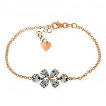14k Rose Gold Bracelet With Aquamarines Photo