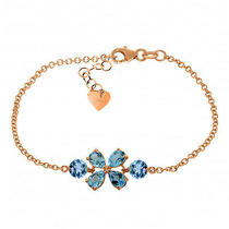 14k Rose Gold Bracelet With Blue Topaz Photo