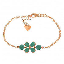 14k Rose Gold Bracelet With Emeralds Photo