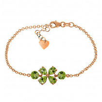 14k Rose Gold Bracelet With Peridots Photo