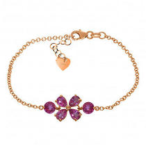 14k Rose Gold Bracelet With Pink Topaz Photo