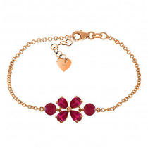 14k Rose Gold Bracelet With Rubies Photo