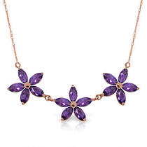 14k Rose Gold House of Mirth Amethyst Necklace Photo