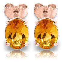 14k Rose Gold Panache Citrine Stud Earrings Photo