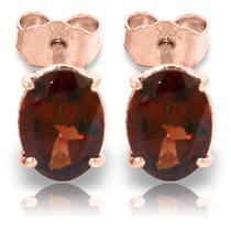 14k Rose Gold Panache Garnet Stud Earrings Photo