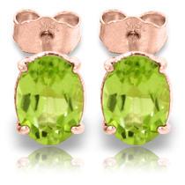 14k Rose Gold Panache Peridot Stud Earrings Photo