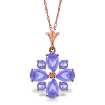 14k Rose Gold Spring Tanzanite Necklace Photo