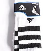 15 Adidas Climalite Antimicrobial Men's Socks White Size6-12 New With Tags Photo