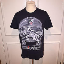 150 Moncler Maglia Hand Painted Ski Mask T-Shirt Medium Photo