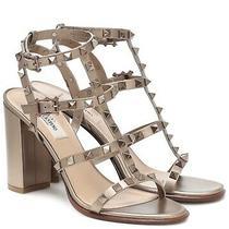 1500 Valentino Garavani Rockstud Leather Bronze Caged Sandals Heels Calfskin 36 Photo