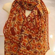 155 Theodora & Callum Turkish Tile Wearable Art Scarf Wrap Shawl Photo