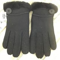155 Ugg Womens Genuine Dyed Shearling Bailey Glove in Black Size L Photo