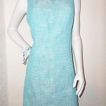 159.00 Talbots Textured  Knee Length Sleeveless Lined  Carrer Sheath Dress 10  Photo