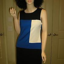 159 Vince Camuto Color Block Wear to Work Dress Size 6 Photo