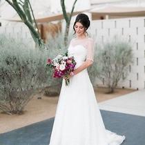 1595 Jenny Yoo Ivory Camilla Wedding Dress 1450b Size 8 Photo