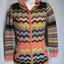 1601 Missoni for Target Chevron Stripe Cardigan Tunic Hoodie Sweater-Large-Nwot Photo