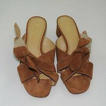 165 Nwot Splendid Beacon Slip on Sandal Knot Accent Suede Brown Size Us 6 M Photo