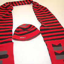 166 Nwot Marc by Marc Jacobs 100% Wool Pocket Scarf and Hat Set One Size .. Photo